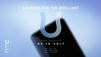 The HTC U (Ocean) will be unveiled on May 16, check out the official invitation and a teaser video