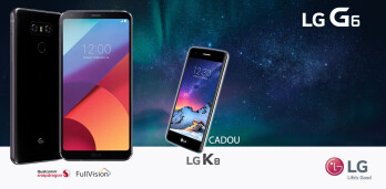 The LG K8 (2017) is bundled in with the purchase of an LG G6 in Germany, Spain and Romania