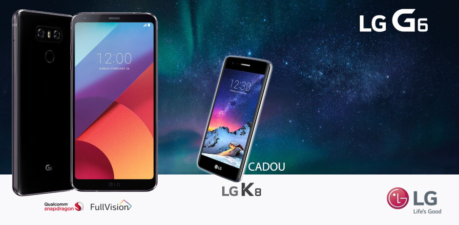 The LG K8 (2017) is bundled in with the purchase of an LG G6 in Germany, Spain and Romania - Deal: Buy the LG G6 and get a free LG K8 (2017) in some European markets
