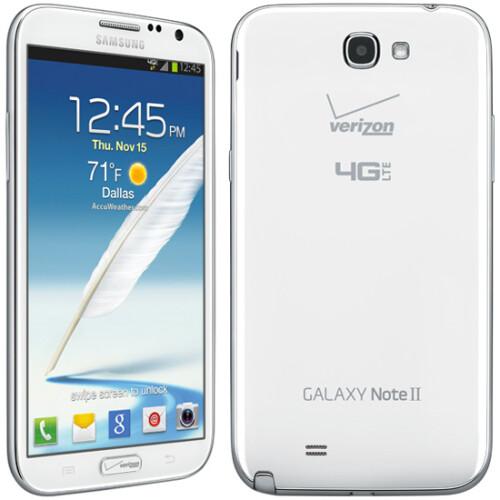 Samsung Galaxy Note II had large Verizon branding...
