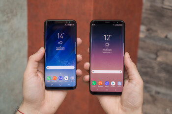 Galaxy S8 (left) vs Galaxy S8+ (right)
