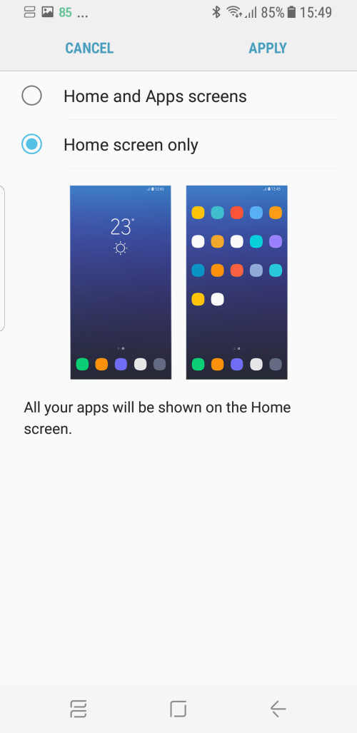 Remove the app drawer for an iPhone-like experience