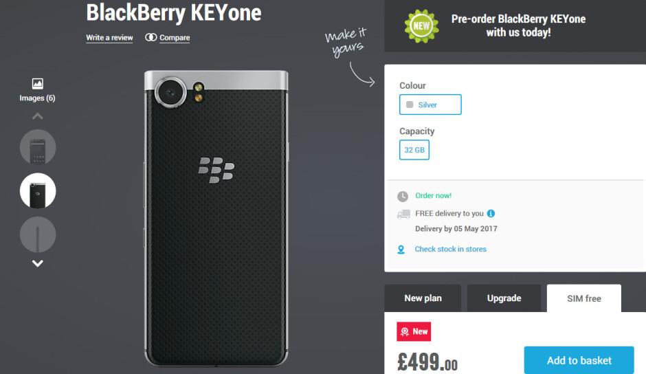 BlackBerry KEYone delayed in Europe by a few weeks