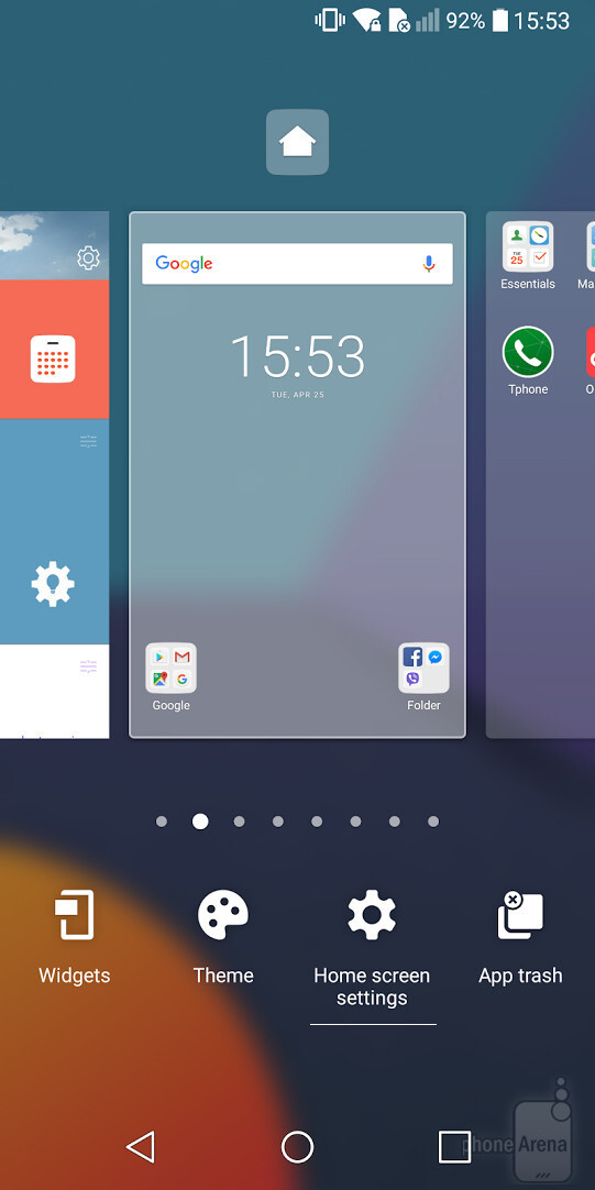 Long-press on home screen and select Settings - How to enable the app drawer on the LG G6