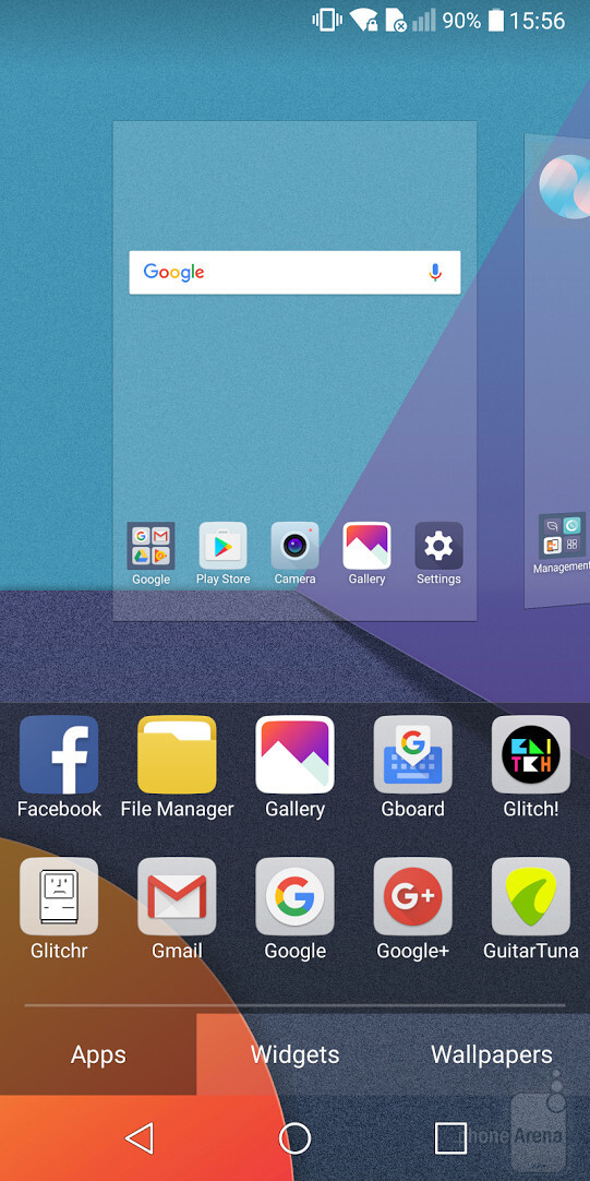App shortcuts menu - How to enable the app drawer on the LG G6