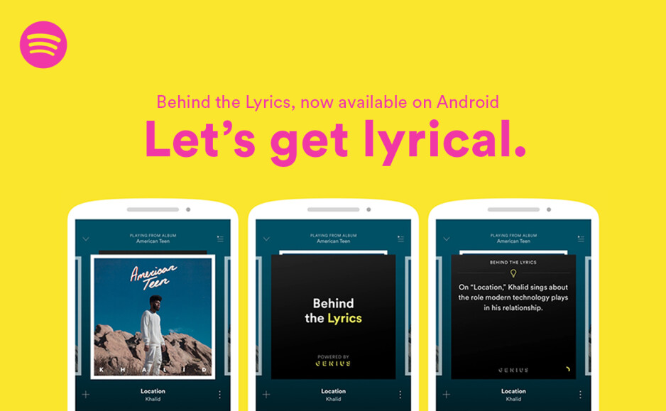 """Learn all about the creation of some of your favorite songs as Behind the Lyrics is added to the Android variant of the Spotify app - Spotify updates its Android app to include """"Behind the Lyrics"""""""