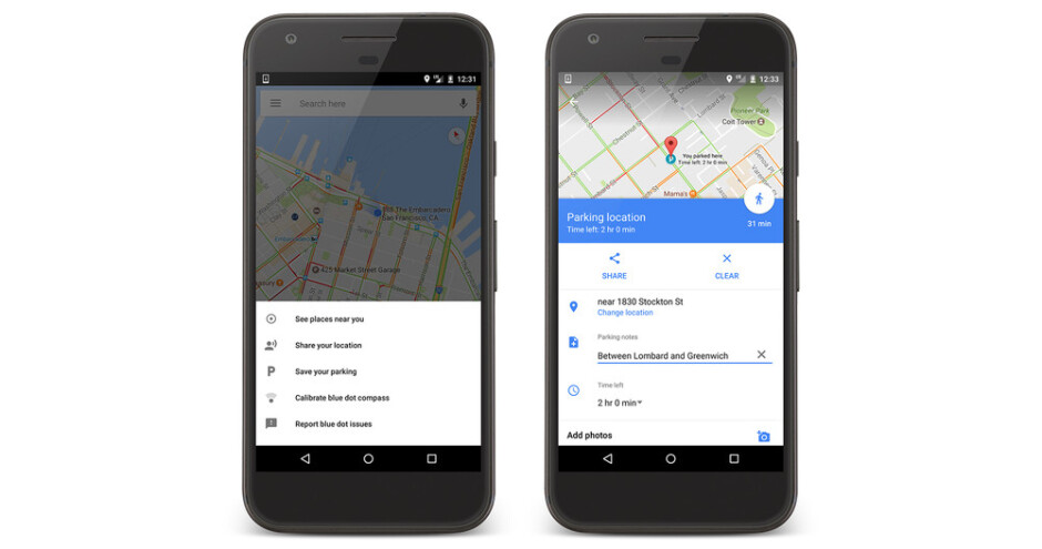 Google Maps now helps you remember where you parked your car