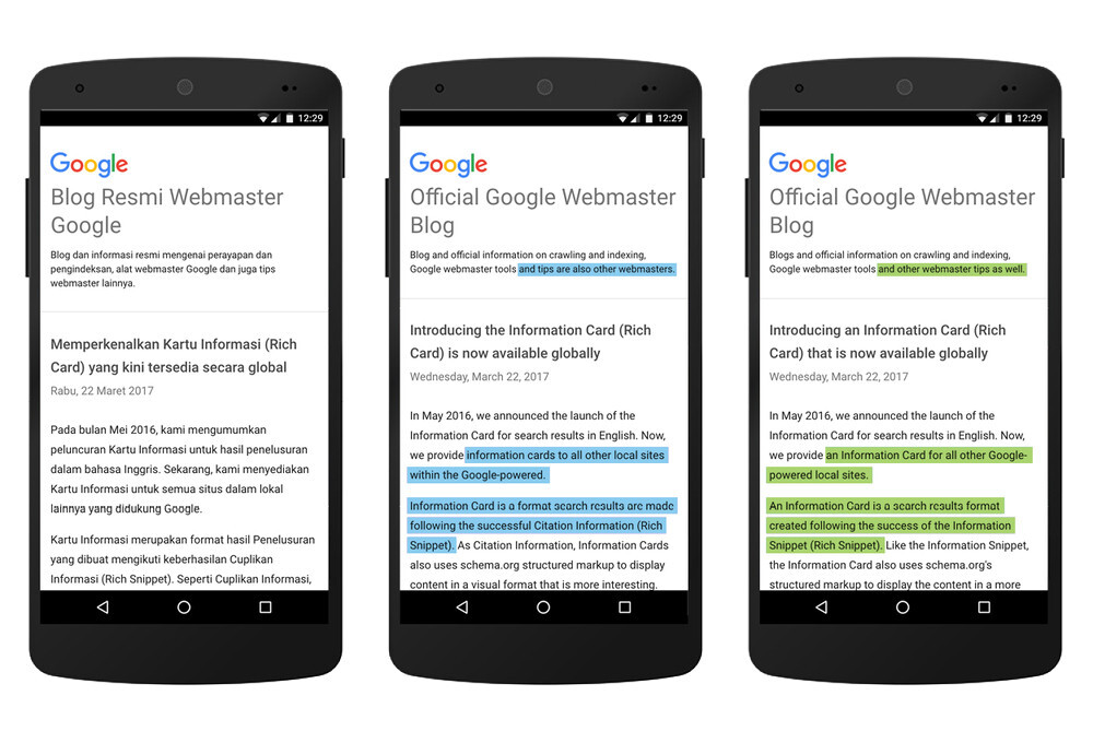 Google Translate is even better at translations, support ...