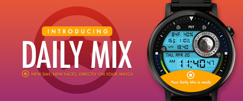 Need new faces for your smartwatch? Try Facer Daily Mix