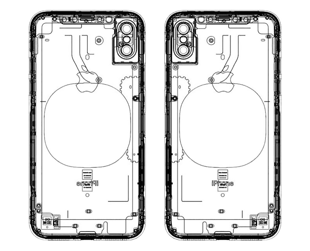 another leaked schematic of the iphone 8  no finger