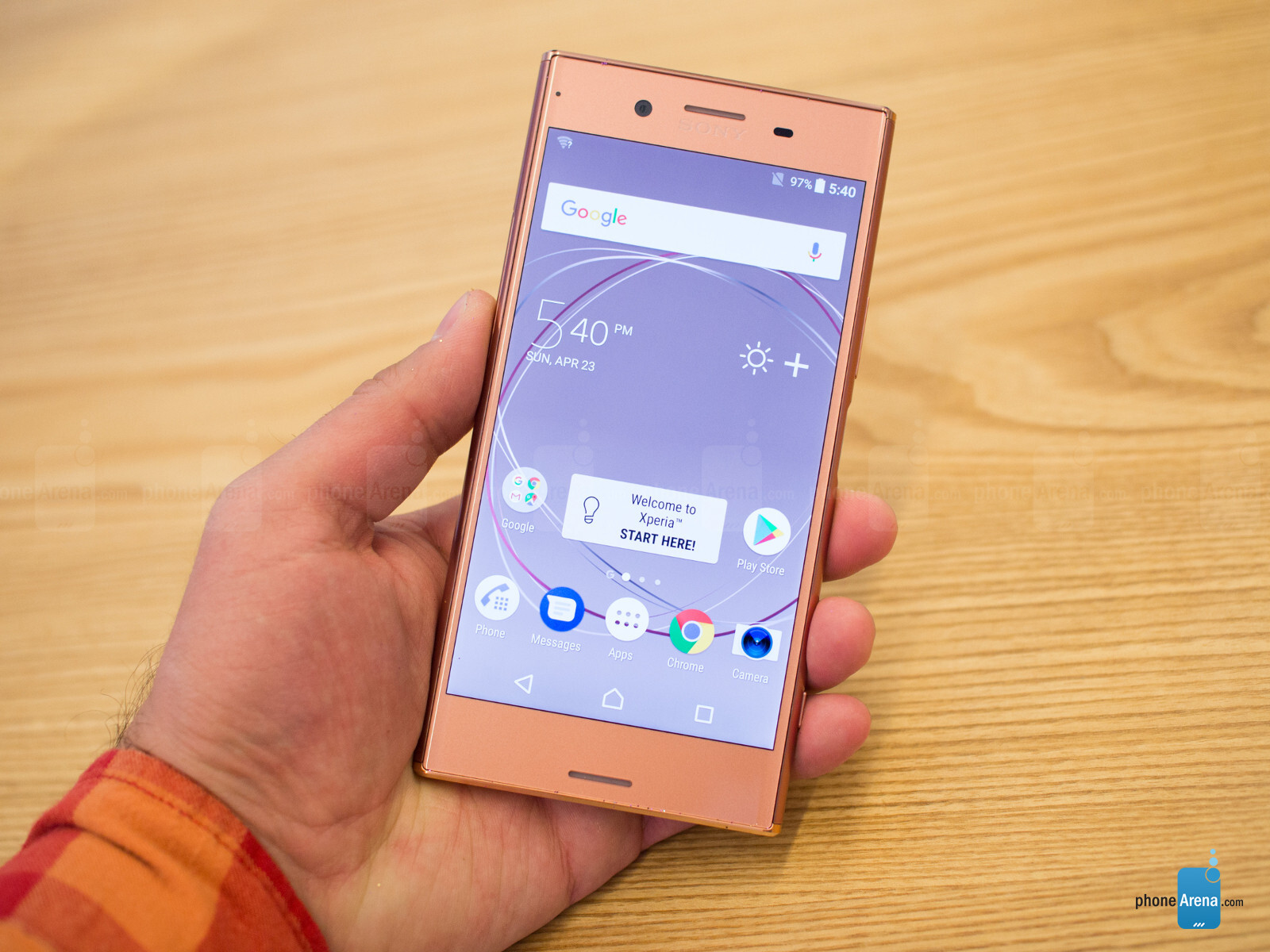 hands on with the bronze pink sony xperia xz premium