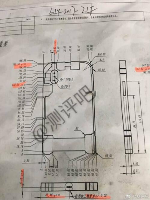 Alleged schematics for the iPhone 8