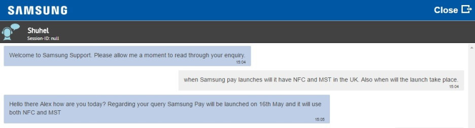 Samsung Pay could make its debut in the UK on May 16