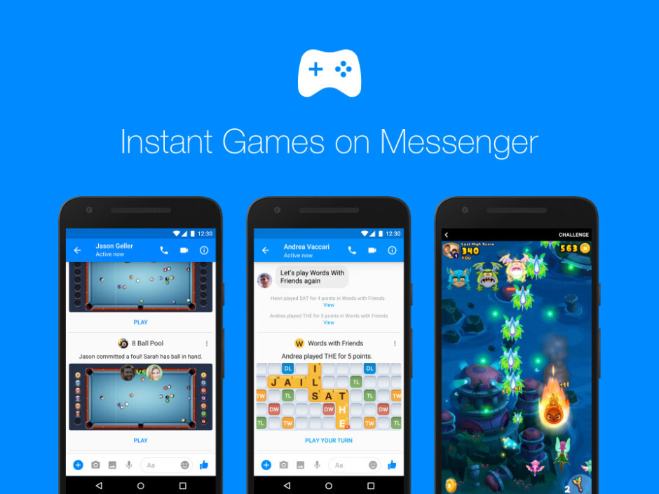Facebook starts rolling out Instant Games for Messenger globally, new features added too