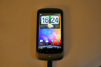 The HTC Desire's Sense UI running on the Google Nexus One