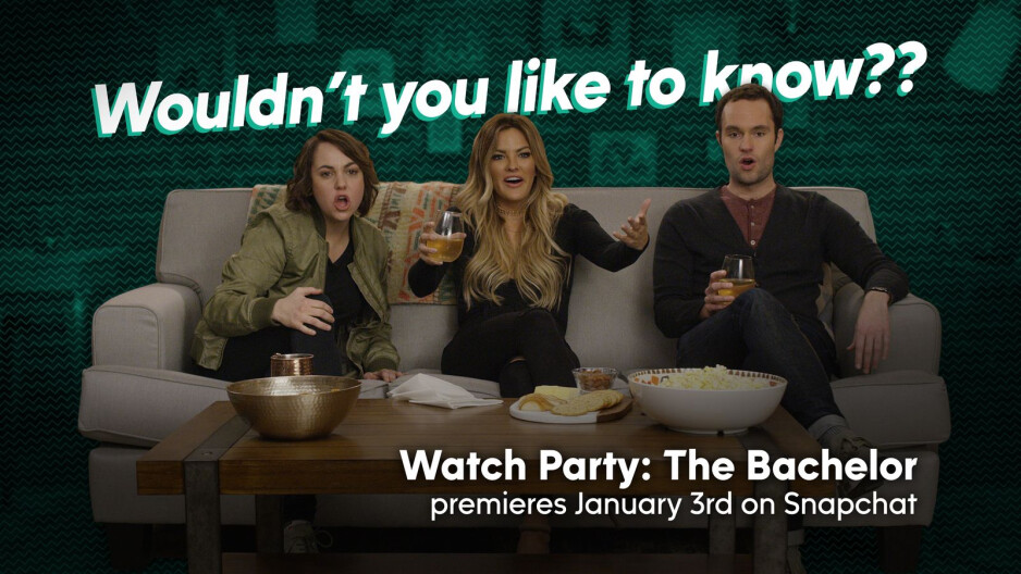 ABC's 'Watch Party - The Bachelor' is one of the original shows on Snapchat TV - Snapchat TV bets on original content, wants two or three new show episodes per day