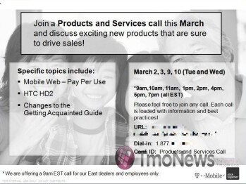 Proof of March 24th HTC HD2 launch, part III