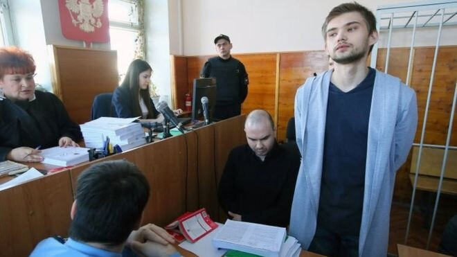 Ruslan Sokolvsky, 22, was given a three-and-a-half year suspended sentence for playing in the local church. - Pokemon GO player sentenced for playing in the wrong place