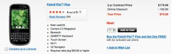 Verizon lowers Palm Pixi Plus price to $79