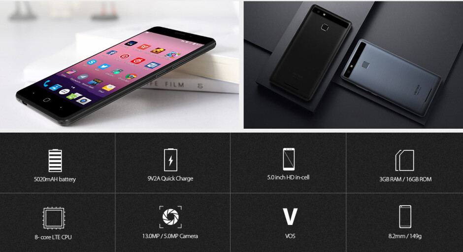 """Vernee Thor E is a 5"""" phone with massive 5020 mAh battery and 3-day endurance"""
