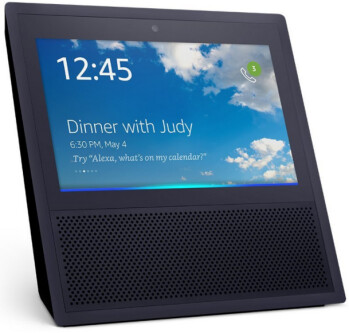 Apple's smart speaker will compete with the new Amazon Echo Show (pictured)