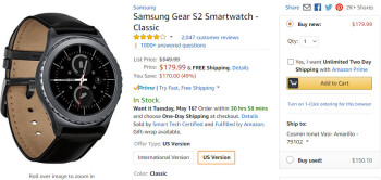 Deal: Samsung Gear S2 is nearly 50  off on Amazon, biggest discount to date
