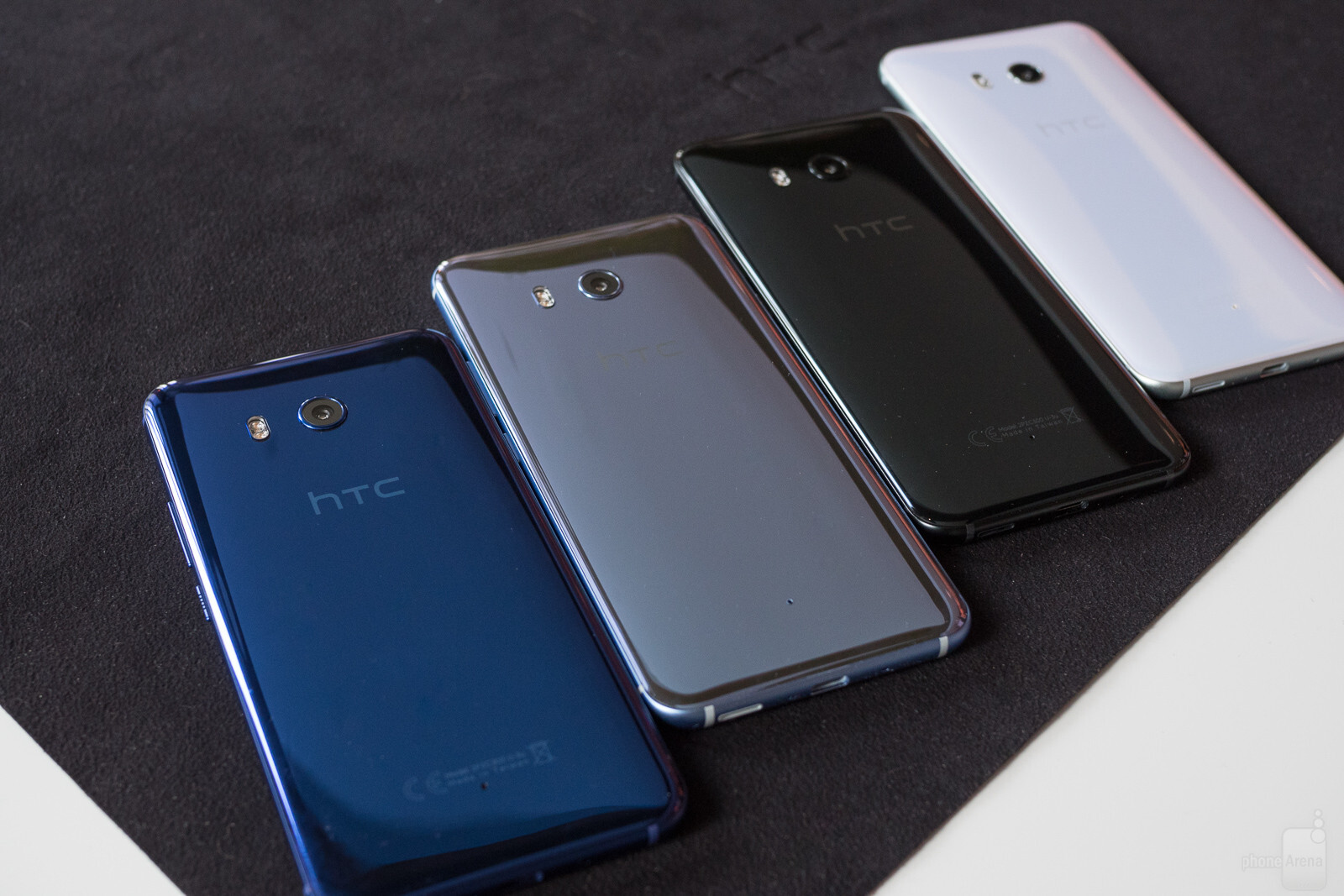 HTC U11 size comparison versus the Galaxy S8, S8+, LG G6