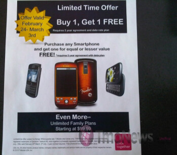 T-Mobile plans to offer a smartphone BOGO offer?