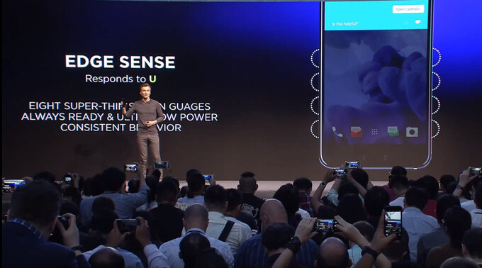 HTC Edge Sense uses two arrays of sensors, situated along the U 11's edges - HTC Edge Sense explained: here's what you can do with a squeeze of the HTC U 11