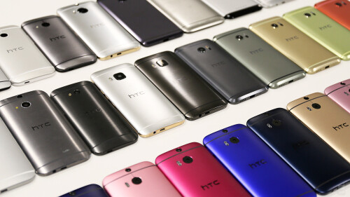 A collection of previous HTC phones