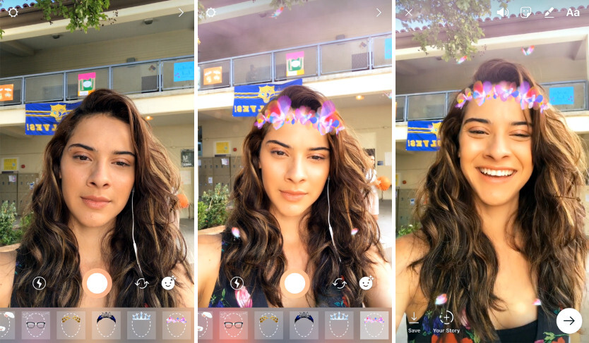 New face filters - Instagram adds face filters, more creative tools