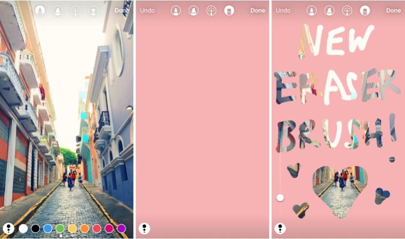 Instagram eraser brush - Instagram adds face filters, more creative tools
