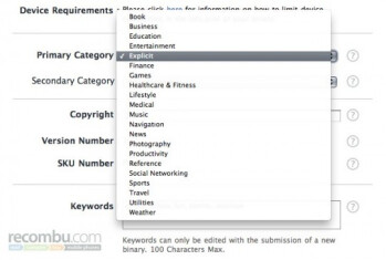 Apple working on a category for applications with explicit content?