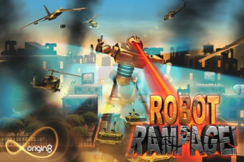 Test of Robot Rampage for the iPhone