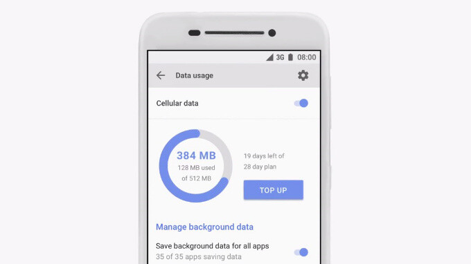 Data management is front and center on Android Go devices - Android O new features overview: picture-in-picture, notification dots, better copy-paste and more