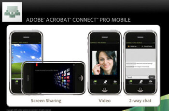Acrobat Connect Pro for the iPhone is based on Flash