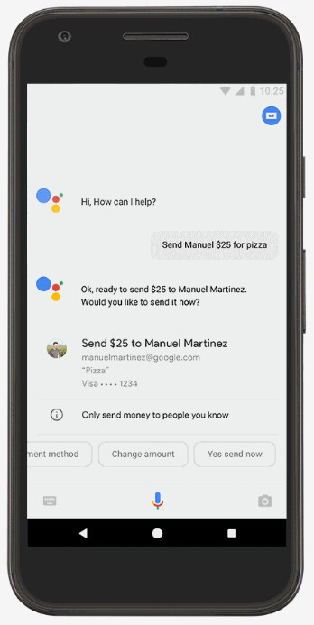 Pay friends on Google Assistant