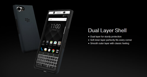 BlackBerry will soon offer three protective cases for the BlackBerry KEYone
