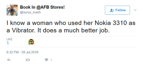 The Nokia 3310 and other feature phones help women relieve sexual tension