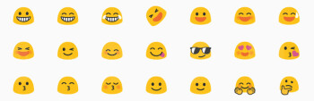 "The old Android ""blob"" emoji: do you like them?"
