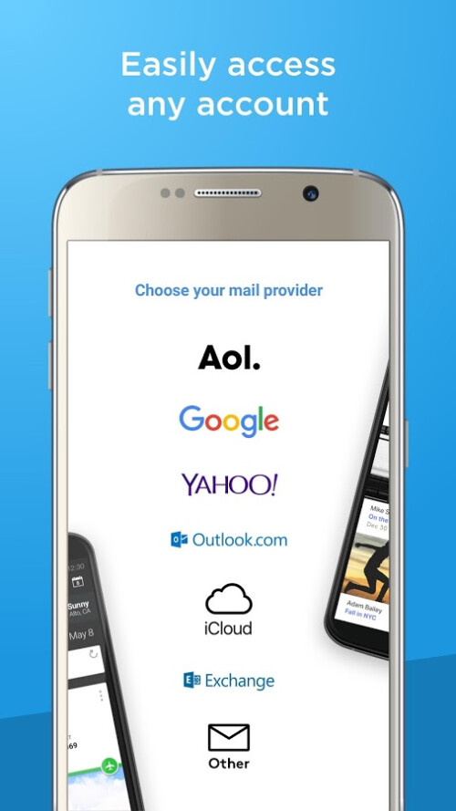 Screenshots of Verizon's new Alto email client for iOS and Android