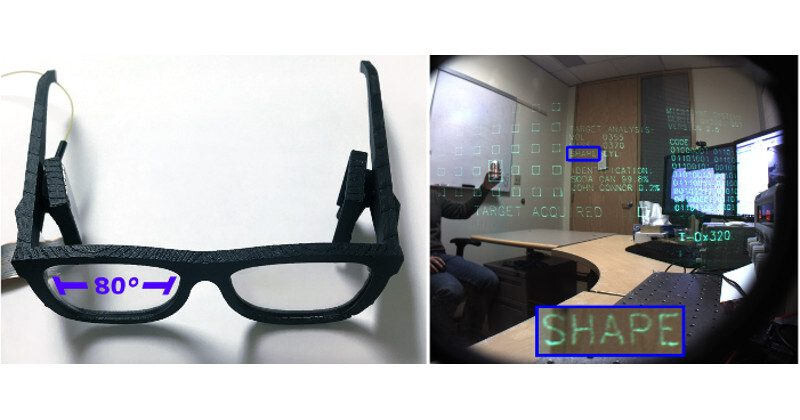 """No, it is not the new HoloLens. It is just a prototype display with an 80 degrees wide field of view in an """"eyeglasses-like"""" setting. And on the next picture is the same prototype displaying an augmented image.  - Microsoft working on making its HoloLens AR headset dramatically better"""