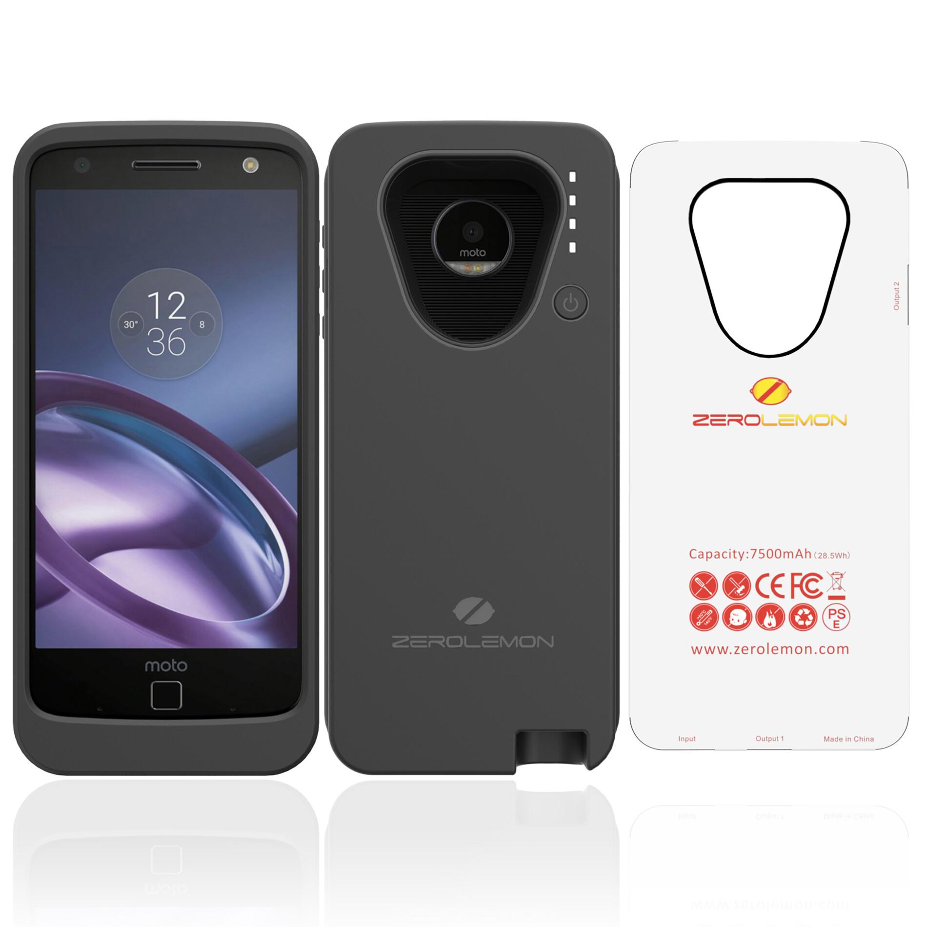 ZeroLemon Moto Z battery case