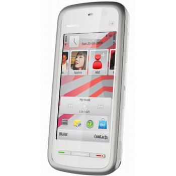 The Nokia 5230 Nuron is coming in pearl white for  $69.99
