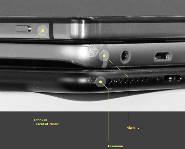 No dent on the Essential Phone after a drop - The Essential Phone is official: a bezel-less handset for the future by the creator of Android