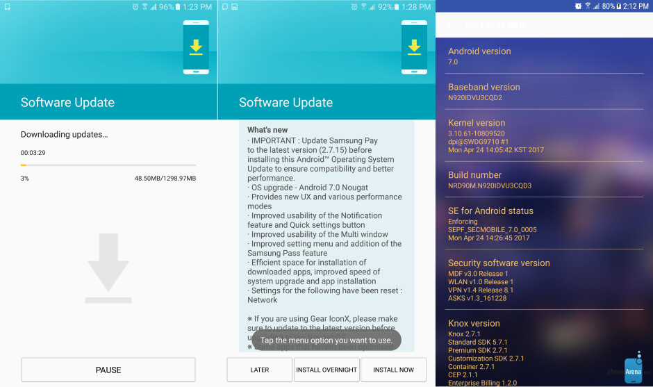Android 7.0 Nougat update for Samsung Galaxy Note 5 starts arriving in Europe