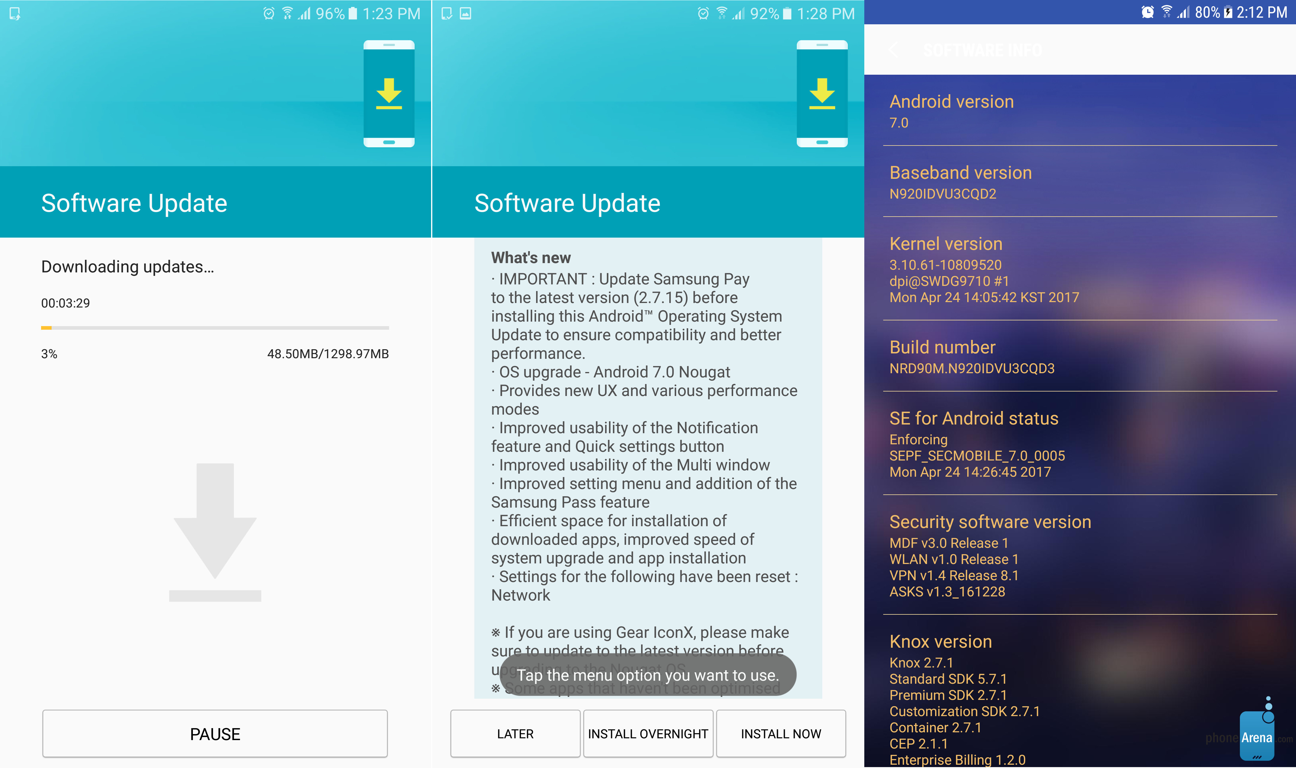 Android 7.0 Nougat update for Samsung Galaxy Note 5 starts arriving in  Europe - PhoneArena