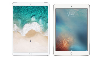 An unofficial render of the new iPad next to last year's 9.7-inch model