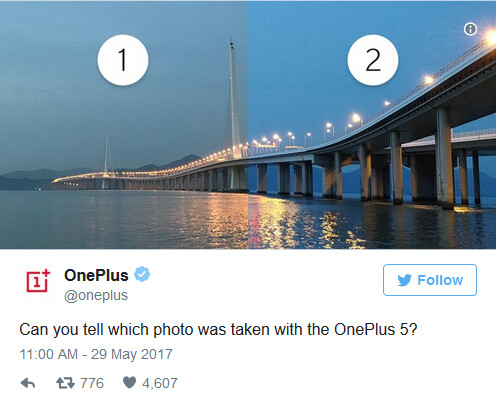 Sharpness of picture #2 is another clue pointing to the use of a monochrome sensor on the OnePlus 5