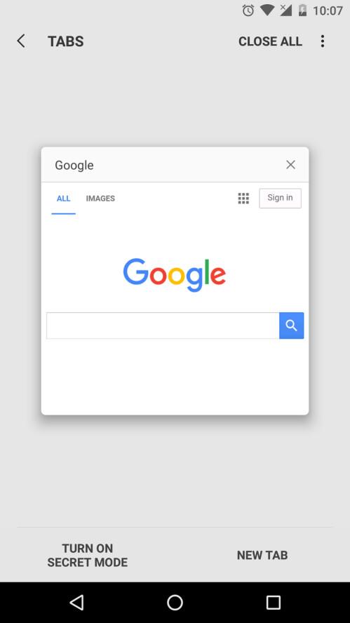 Samsung Internet Browser installed on a Nexus phone